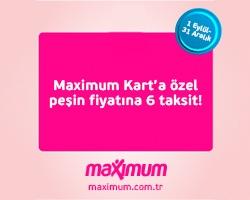 Maximum Kartlar'a Özel Peşin Fiyatına 6 Taksit