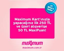 Maximum Kart'ınızla  Madame Coco'da 50 TL MaxiPuan!