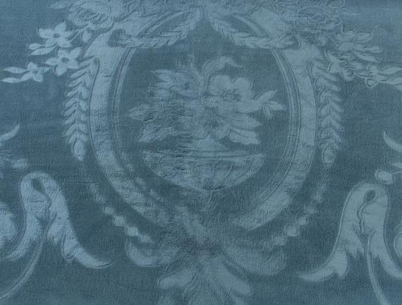 Fleurs Çift Kişilik Sıcak Baskılı Battaniye Indigo