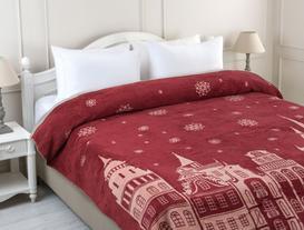 Profit Çift Kişilik Pamuklu Battaniye - Kırmızı