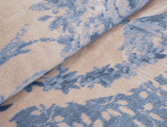 Chambord Çift Kişilik Pamuklu Jakarlı Battaniye Mavi