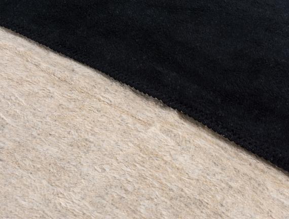 Couleur Tek Kişilik Pamuklu Battaniye Siyah / Bej