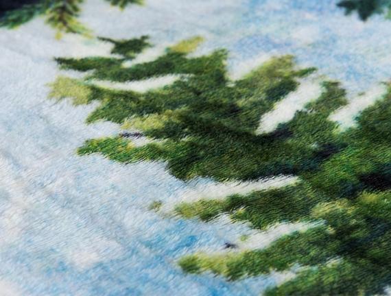 Pine Tek Kişilik Wellsoft Dijital Baskılı Battaniye