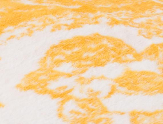 Cadre Tek Kişilik Pamuklu Jakarlı Battaniye Sarı