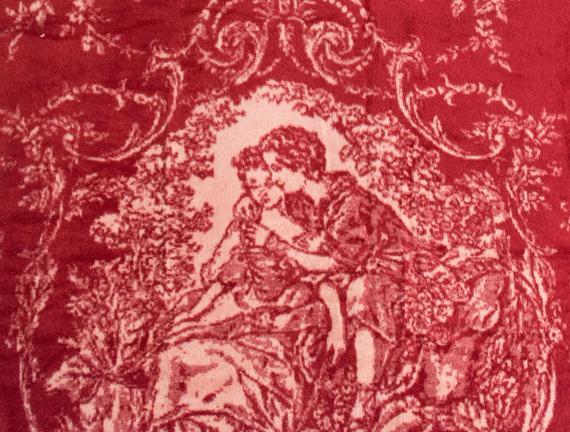 Cadre Tek Kişilik Pamuklu Jakarlı Battaniye Kırmızı