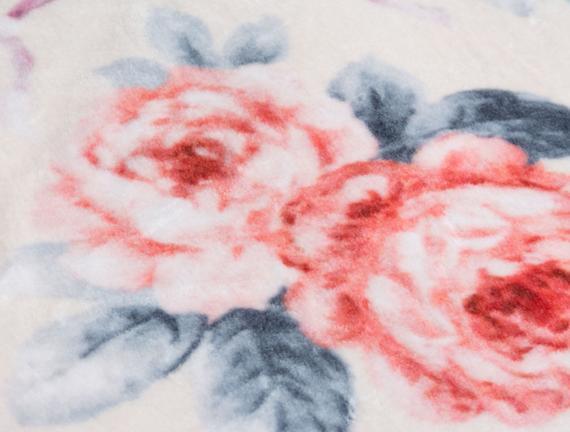 Tek Kişilik Baskılı Battaniye Lacivert / Kırmızı
