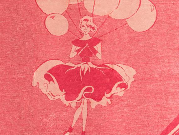 Ballon Tek Kişilik Pamuklu Jakarlı Battaniye Pembe