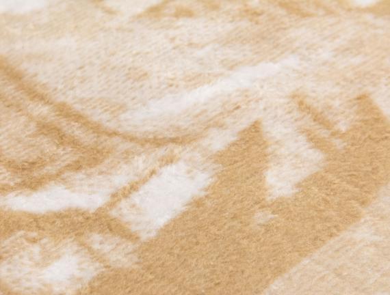 Fleche Tek Kişilik Pamuklu Jakarlı Battaniye Taş