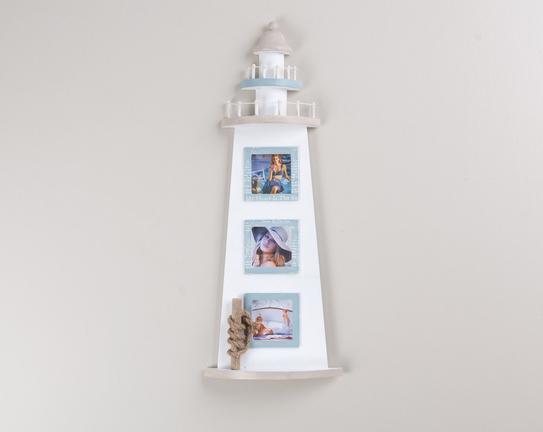 Fotoğraf Çerçevesi 3lü Deniz Feneri 56x21cm