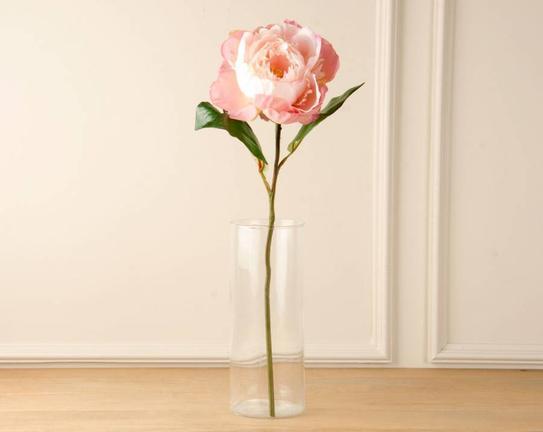 Dekoratif Yapay Çiçek Açık Pembe Şakayık 45cm