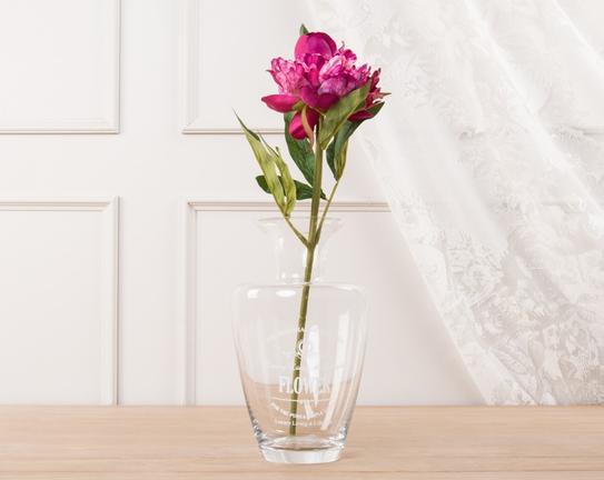 Dekoratif Yapay Çiçek Koyu Pembe Şakayık 39cm