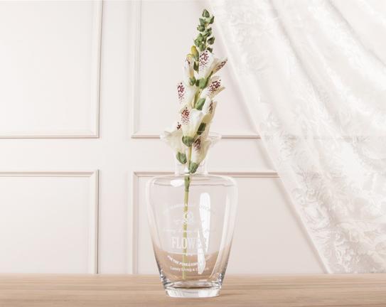 Dekoratif Yapay Çiçek Yüksükotu Çiçeği Beyaz 39cm