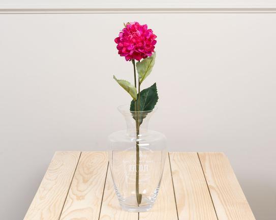 Dekoratif Yapay Çiçek Koyu Pembe Yıldız Çiçeği 44cm