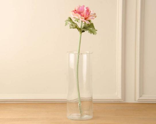 Dekoratif Yapay Çiçek Pembe Anemon 44cm