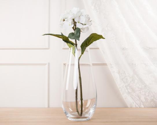 Dekoratif Yapay Çiçek Beyaz Ortanca 52cm
