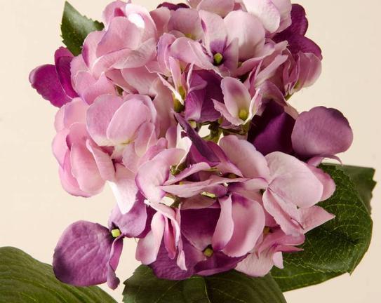 Dekoratif Yapay Çiçek Mor & Pembe Ortanca 39cm