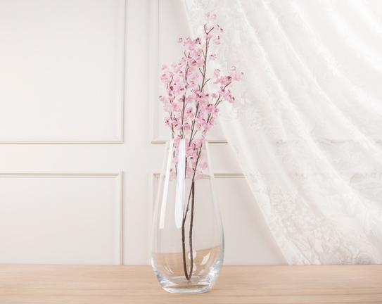 Dekoratif Yapay Çiçek Açık Pembe Kiraz Çiçeği 39cm