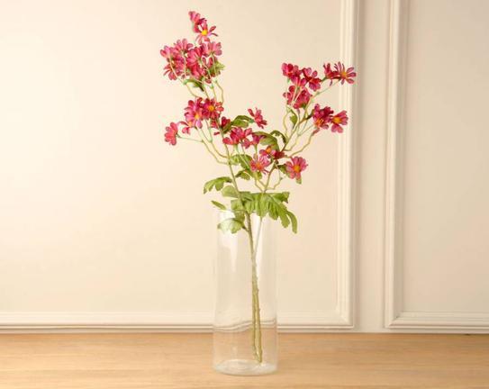 Dekoratif Yapay Çiçek Koyu Pembe Papatya 64cm