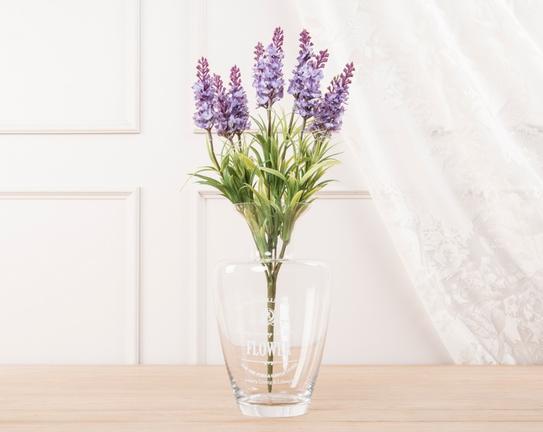Dekoratif Yapay Çiçek Demet Mor Lavanta 40cm