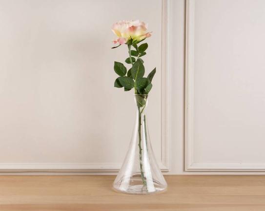 Dekoratif Yapay Çiçek Sarı & Pembe Yabani Gül 39cm