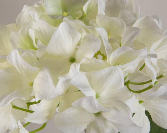 Dekoratif Yapay Çiçek Beyaz Yabani Gül 39cm