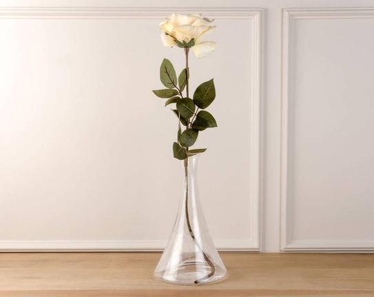 Dekoratif Yapay Çiçek Sarı Gül 39cm