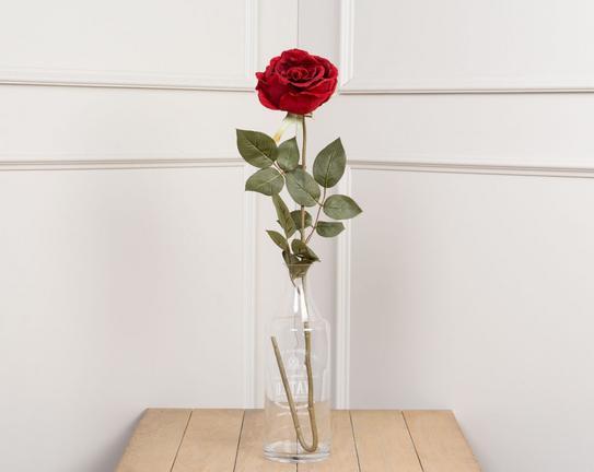 Dekoratif Yapay Çiçek - Kırmızı Gül