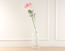 Dekoratif Yapay Çiçek Pembe Gül 65cm