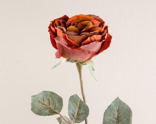 Dekoratif Yapay Çiçek Koyu Kırmızı Gül