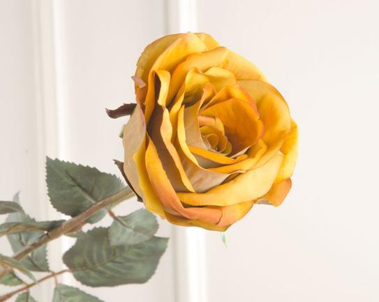 Dekoratif Yapay Çiçek Sarı Gül 71cm