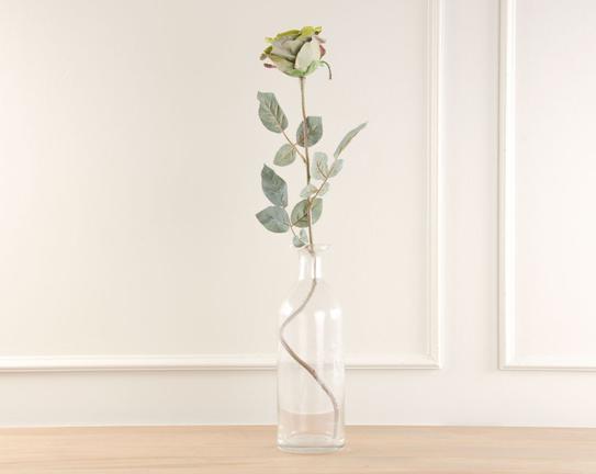 Dekoratif Yapay Çiçek Yeşil Gül 70cm