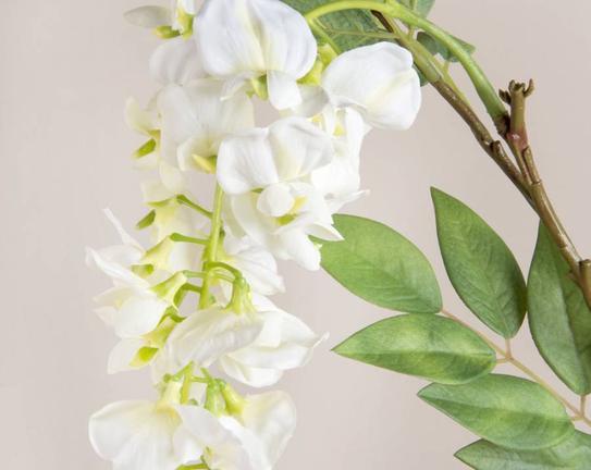 Dekoratif Yapay Çiçek Beyaz Akasya 39cm