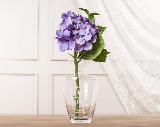 Dekoratif Yapay Çiçek Mor Ortanca 38cm