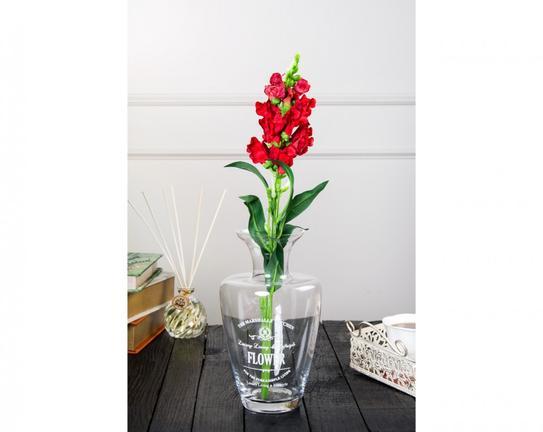 Dekoratif Yapay Çiçek - Kırmızı Çiçekli Aslanağzı