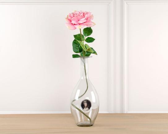Dekoratif Yapay Çiçek Pembe Gül 67cm