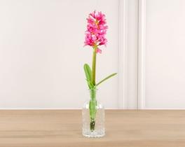 Dekoratif Yapay Çiçek Pembe Sümbül 52cm