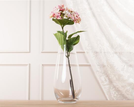 Dekoratif Yapay Çiçek - Açık Pembe Ortanca