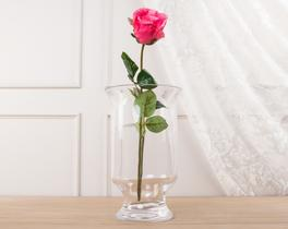 Dekoratif Yapay Çiçek Pembe Gül 43cm