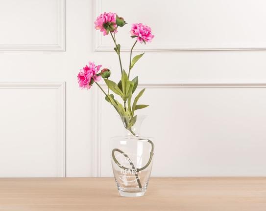 Dekoratif Yapay Çiçek Koyu Pembe Şakayık 80cm