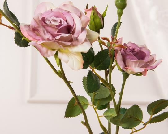 Dekoratif Yapay Çiçek - Mor Gül