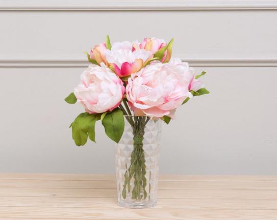 Dekoratif Yapay Çiçek Buket Şakayık 30cm