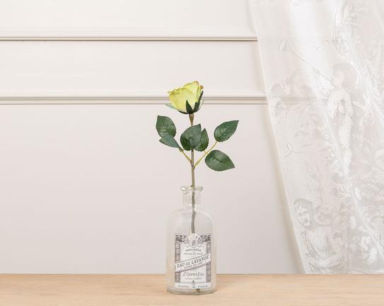 Dekoratif Yapay Çiçek Sarı Gül 30cm