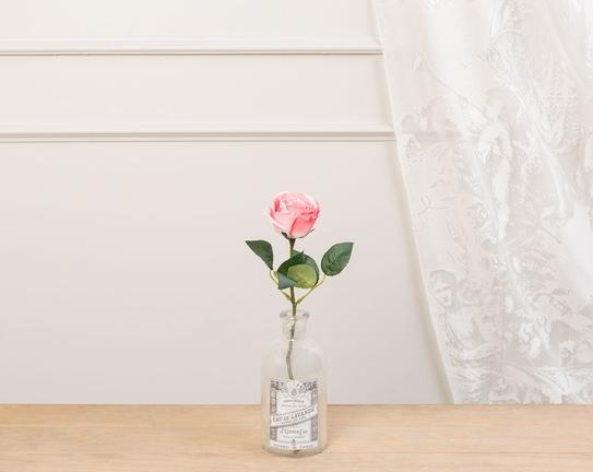 Dekoratif Yapay Çiçek Pembe Gül 30cm