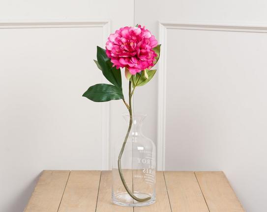 Dekoratif Yapay Çiçek Koyu Pembe Şakayık 45cm
