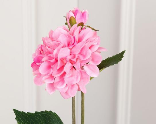 Dekoratif Yapay Çiçek Pembe Yıldız Çiçeği 44cm