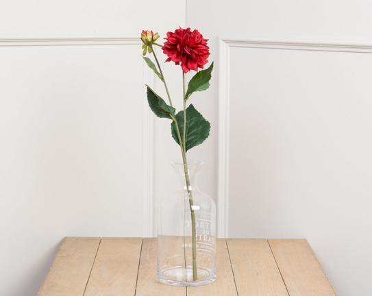 Dekoratif Yapay Çiçek Kırmızı Yıldız Çiçeği 44cm