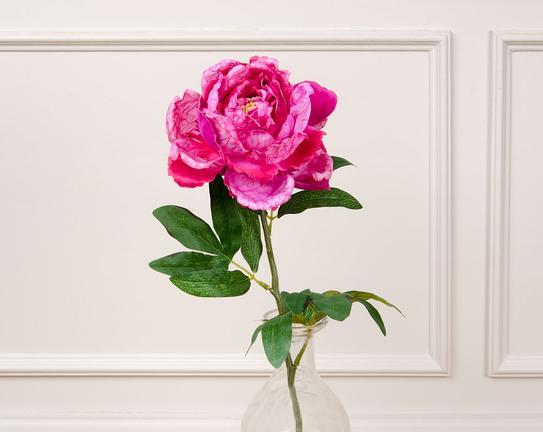 Dekoratif Yapay Çiçek Pembe Şakayık 74cm