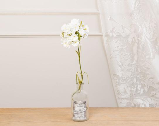 Dekoratif Yapay Çiçek Beyaz Karanfil 52cm