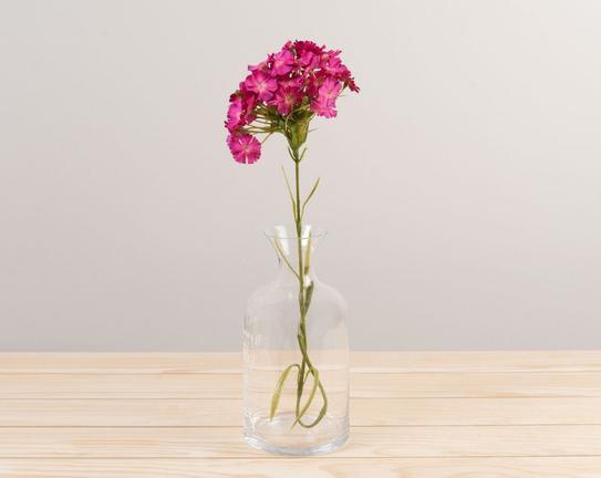 Dekoratif Yapay Çiçek Pembe Karanfil 52cm