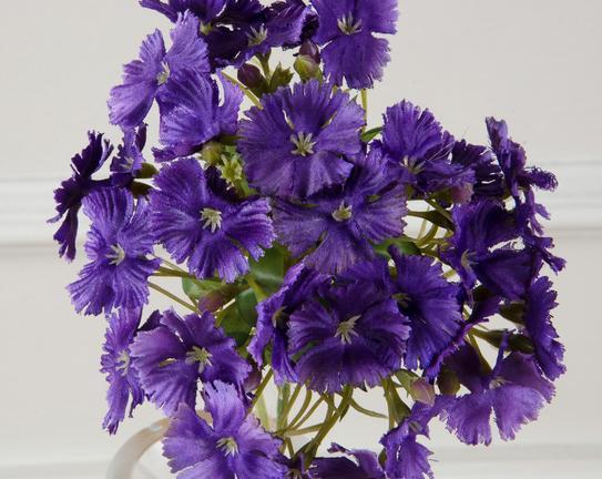 Dekoratif Yapay Çiçek - Mor Karanfil
